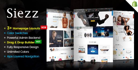 Siezz – Advanced Drag & Drop Responsive Shopify Theme