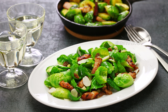 brussels sprouts salad - Stock Photo - Images