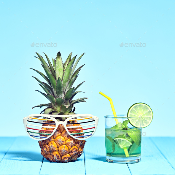 Pineapple on Beach - Stock Photo - Images