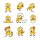 Set of New-Born Baby Chicken Characters - GraphicRiver Item for Sale