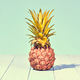 Tropical Pineapple. Vanilla Pastel Color. Vintage - PhotoDune Item for Sale