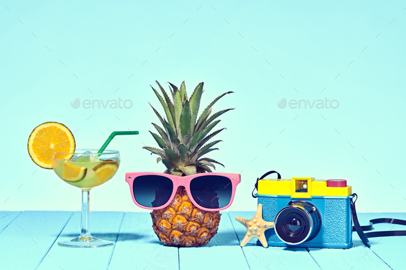 Hipster Pineapple - Stock Photo - Images