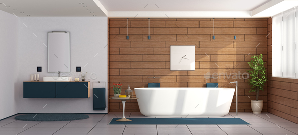 Elegant modern bathroom - Stock Photo - Images