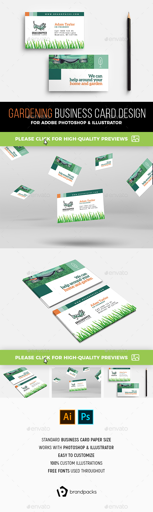 Gardening Business Card Template - Industry Specific Business Cards