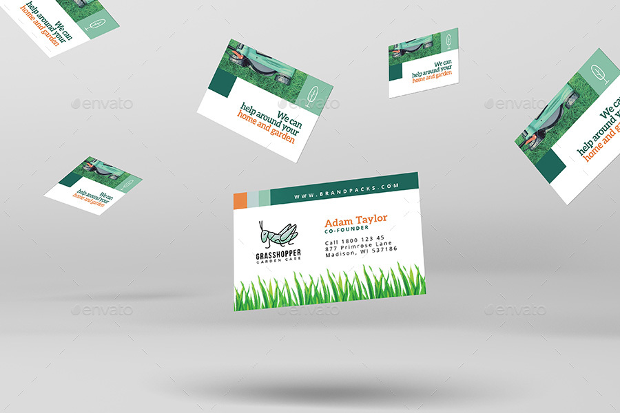 Gardening Business Card Template by BrandPacks | GraphicRiver