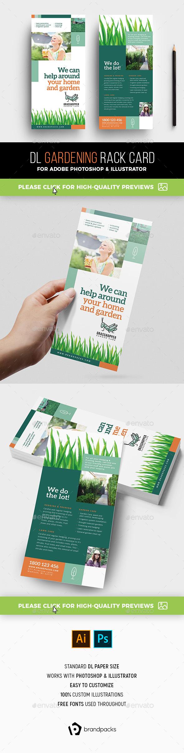 Gardening Rack Card Template - Corporate Flyers