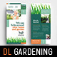 Gardening Rack Card Template