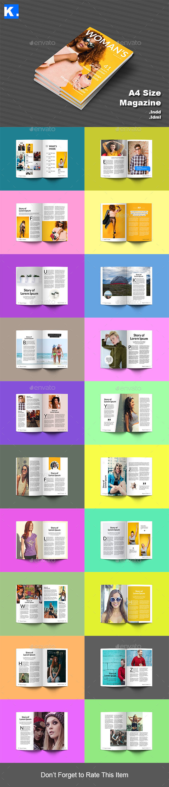 Indesign Magazine Template 8 - Magazines Print Templates
