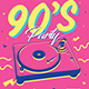 90's Music Event Flyer - GraphicRiver Item for Sale