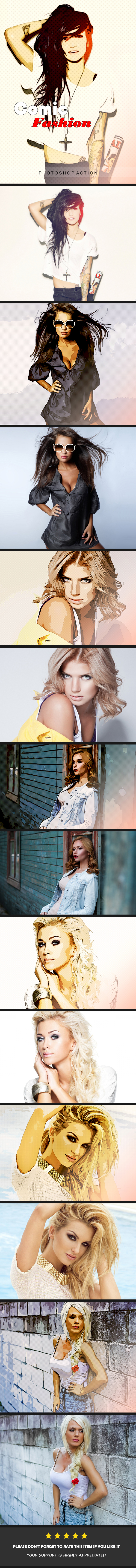 Comic Fashion | PS Action - Photo Effects Actions
