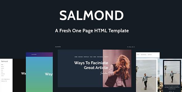 Salmond - A Fresh One Page HTML Template - Portfolio Creative