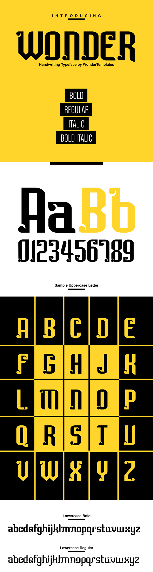 WonderTemplates-Handwritten Typeface - Handwriting Fonts