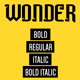 WonderTemplates-Handwritten Typeface