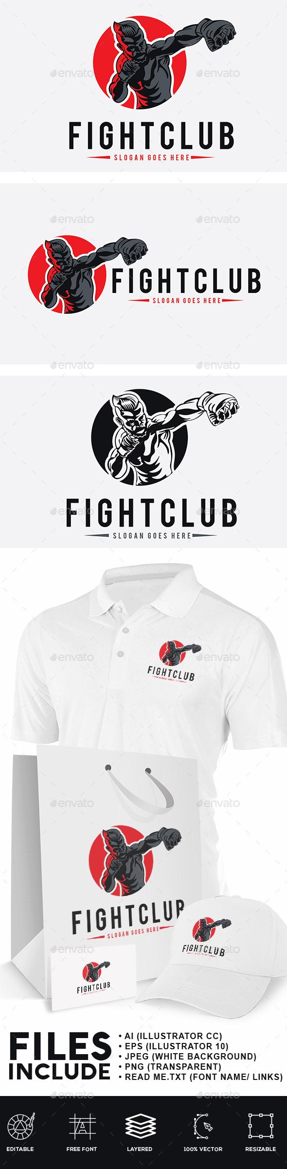 Fight Club Logo - Humans Logo Templates
