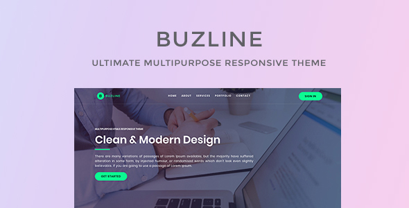 Image of Buzline - Business & Startup Template