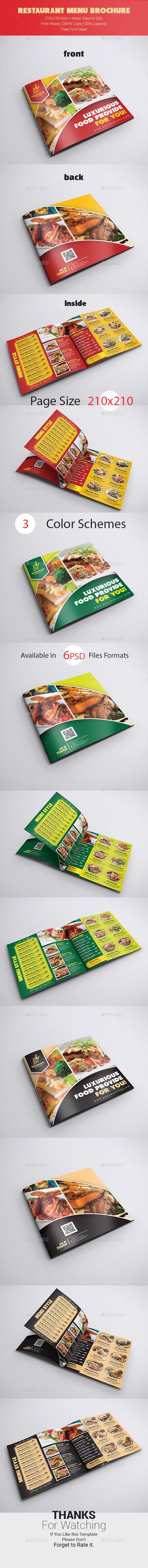 Restaurant Menu Brochure - Catalogs Brochures