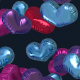 Heart Shaped Baloons Transition Footage Pink Blue Colors - VideoHive Item for Sale