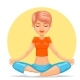 Meditation Female Yoga Tranquility - GraphicRiver Item for Sale