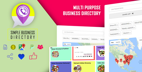Simple Business Directory with Maps - CodeCanyon Item for Sale