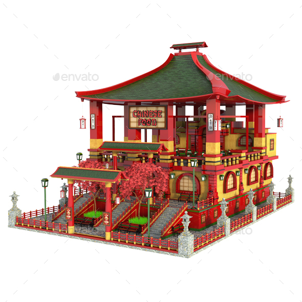 Chinese Restaurant - Architecture 3D Renders