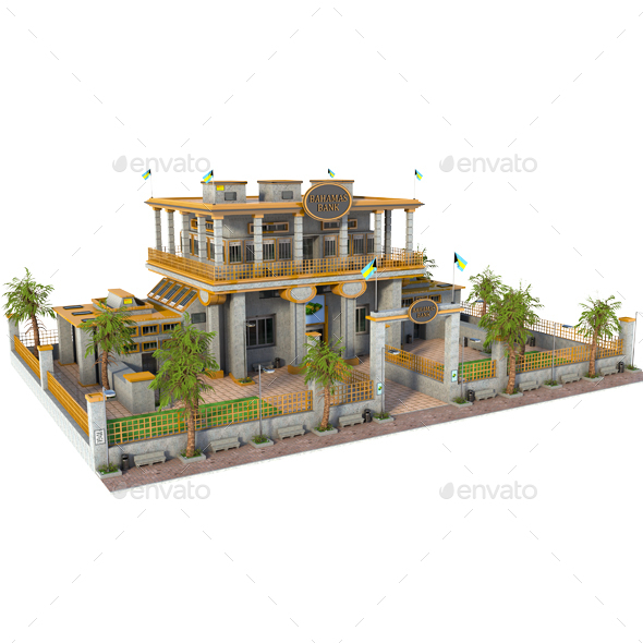 Bahamas Bank - Architecture 3D Renders