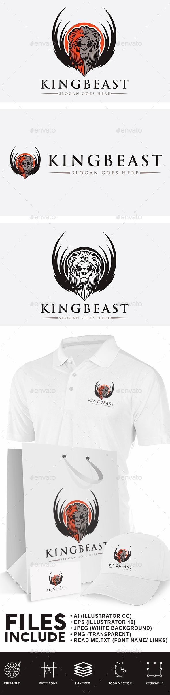 King Beast Logo - Animals Logo Templates