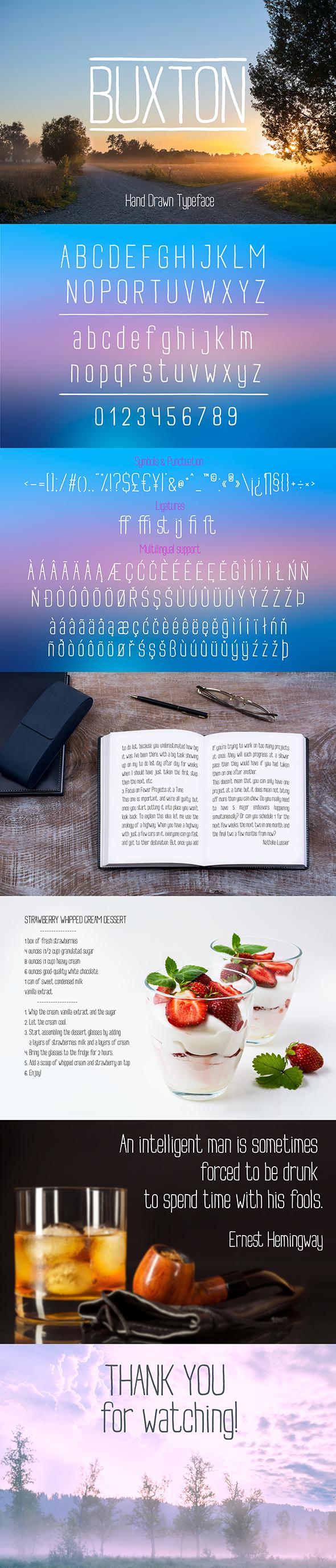 Buxton - Sans-Serif Fonts