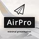 AirPro Minimal Keynote Template