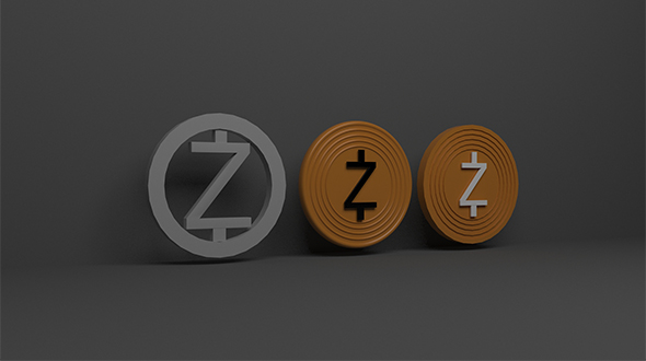 Zcash 3d Logo - 3DOcean Item for Sale