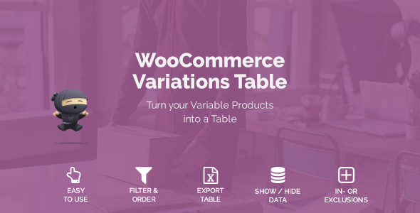 WooCommerce Variations Table - CodeCanyon Item for Sale