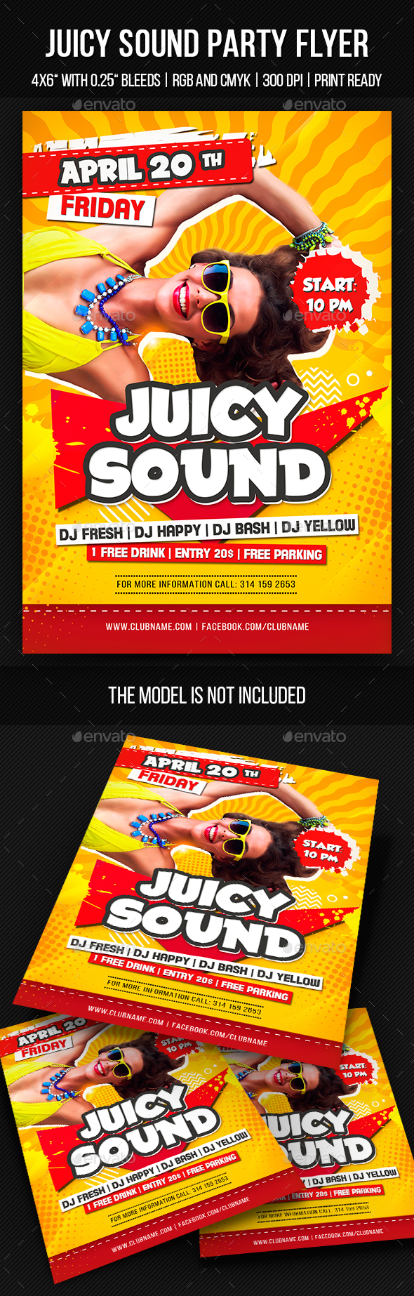Juicy Sound Party Flyer - Clubs & Parties Events