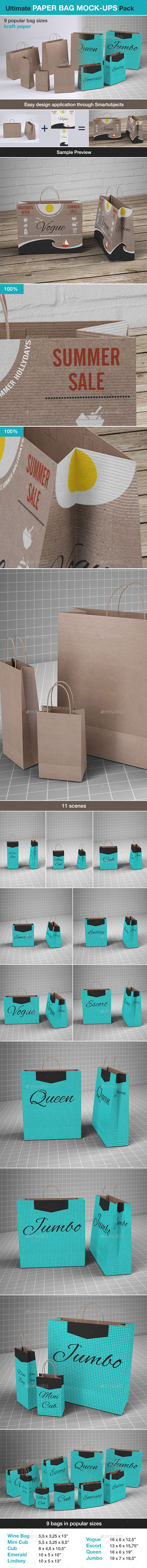 Shopping Paper Bag Mock-up - Product Mock-Ups Graphics