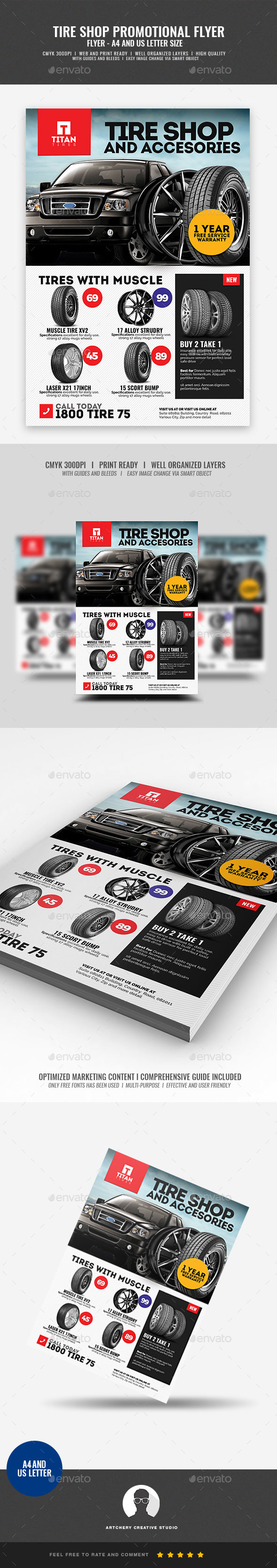 Tire Store Promotional Flyer - Corporate Flyers