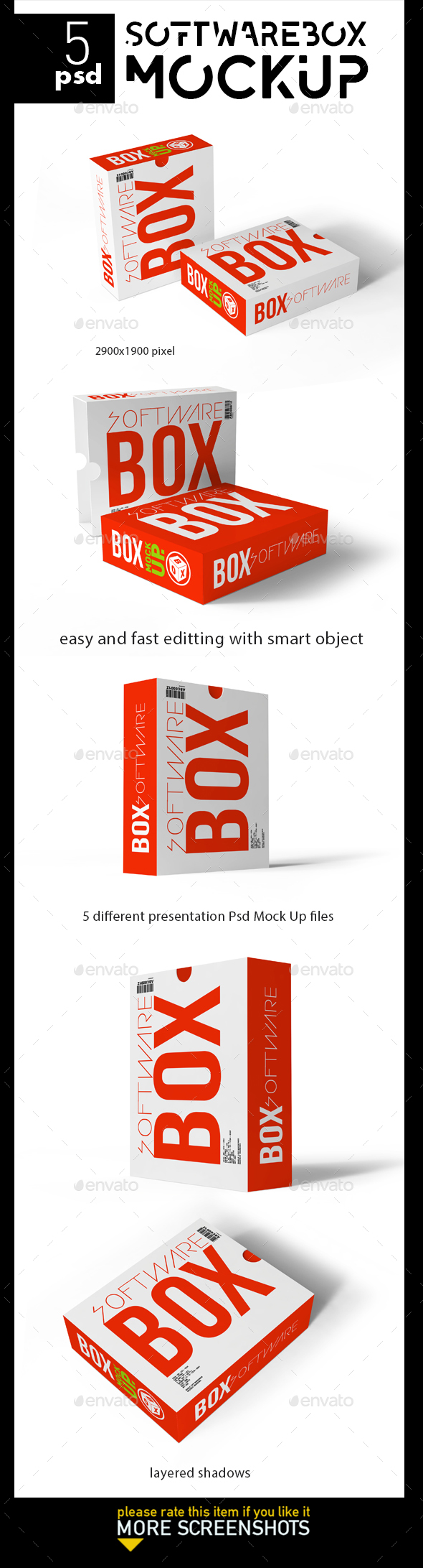Software Box-Mock Up - Product Mock-Ups Graphics