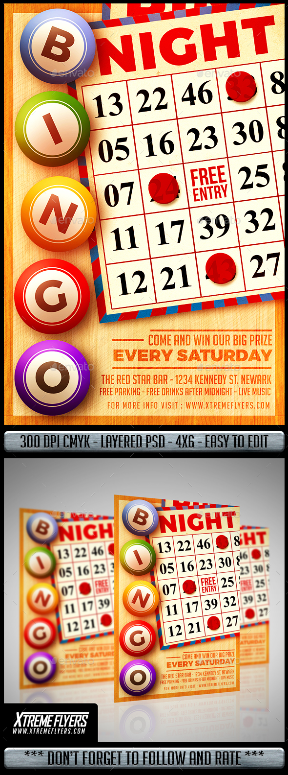 Bingo Night Flyer - Clubs & Parties Events