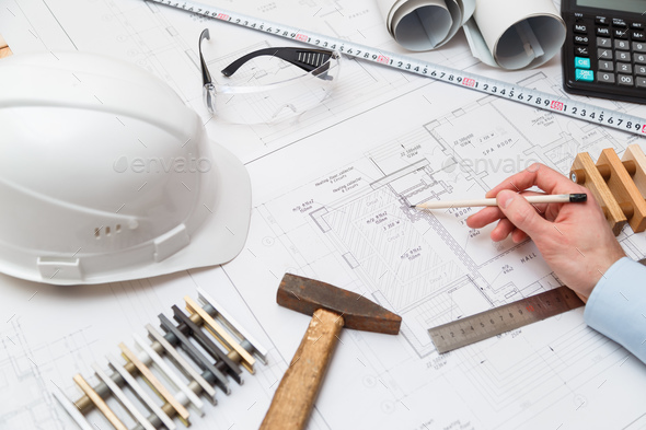 Architect at work - Stock Photo - Images