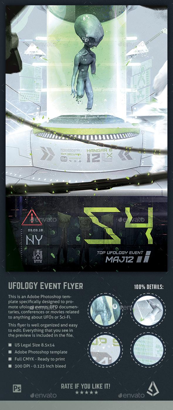 Alien Incubation Flyer - UFO Ufology Area 51 Poster Template - Events Flyers