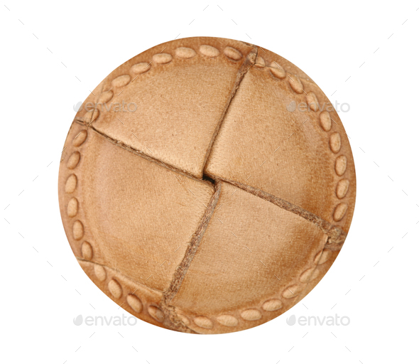 Leather clothes button - Stock Photo - Images