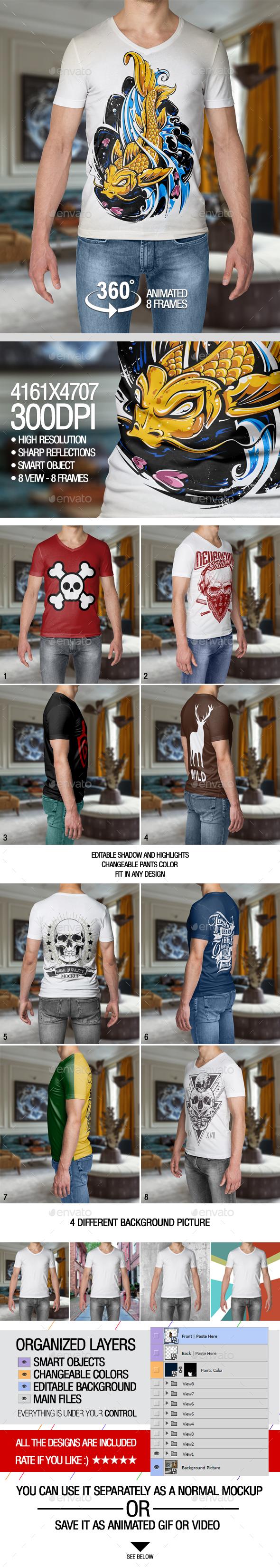 Male T-Shirt Mockup - T-shirts Apparel
