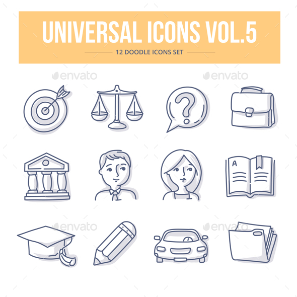 Universal Doodle Icons vol.5 - Miscellaneous Icons