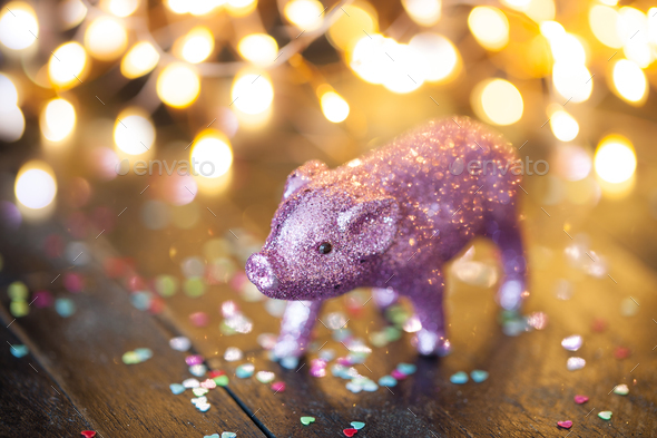 Little pig, lucky charm - Stock Photo - Images