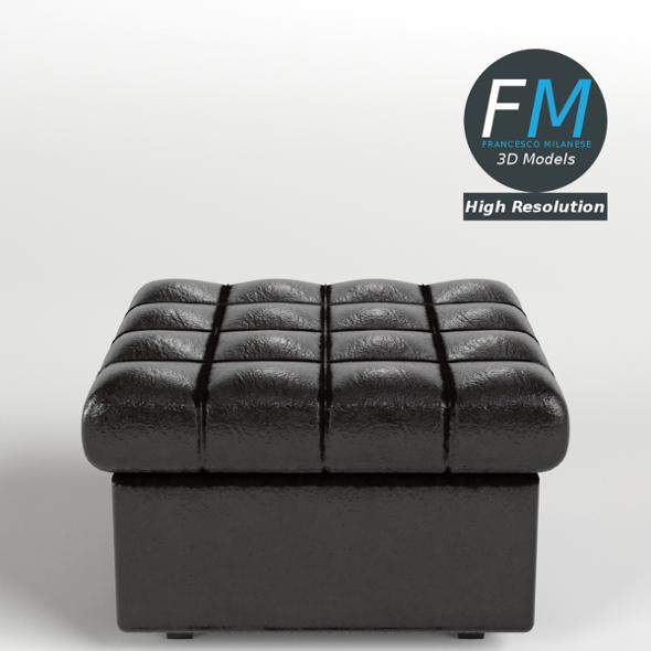 Leather Pouf Sofa - 3DOcean Item for Sale