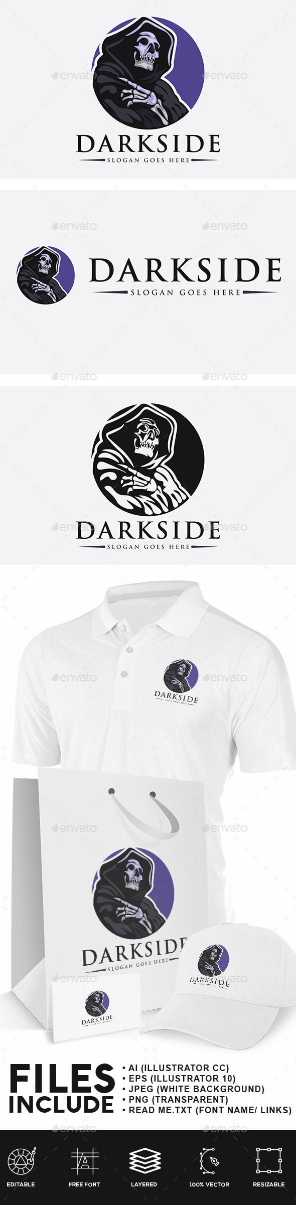 Dark Side Logo - Humans Logo Templates