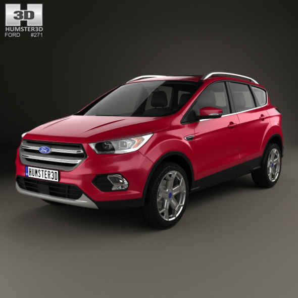 Ford Escape Titanium 2017 - 3DOcean Item for Sale