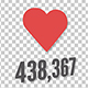 The Appearance of a Heart Icon With a Counter Wwith Alpha Channel - VideoHive Item for Sale