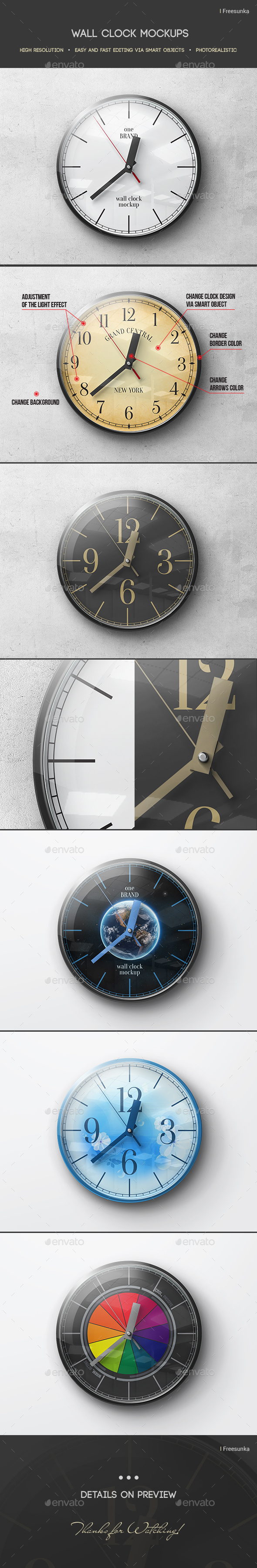 Wall Clock Mockup - Miscellaneous Print