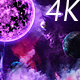 Abstract Nebula in Deep Space with Big Purple Star and Planets and Energy Flares - VideoHive Item for Sale