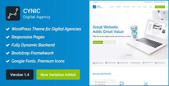 Digital Agency WordPress Theme - Cynic - Technology WordPress
