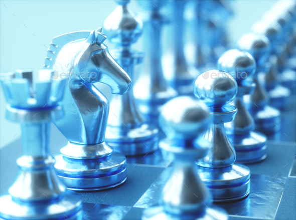 Chess Pieces Gameboard - Stock Photo - Images
