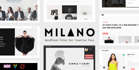 Milano | Creative Minimal Portfolio & WooCommerce WordPress Theme